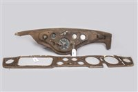 Lot 49-FORD DASHBOARD WITH INSTRUMENT PANEL AND A...