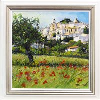 Lot 684 - POPPIES AND BERRIES AN OIL ON CANVAS BY JAMES SOMERVILLE LINDSAY