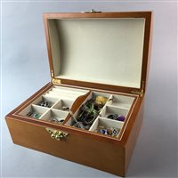 Lot 59-A LOT OF COSTUME JEWELLERY AND FOUR JEWELLERY BOXES