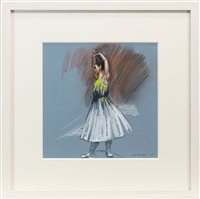 Lot 728 - STUDY FOR LITTLE DANCER, A PASTEL BY GERARD BURNS