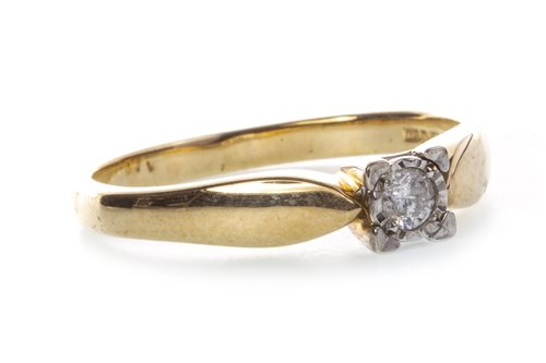 Lot 41-A DIAMOND SINGLE STONE RING