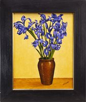 Lot 753 - VASE WITH FLOWERS, AN OIL BY GRAHAM MCKEAN