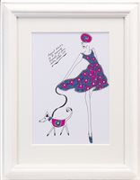Lot 758 - ORIGINAL ILLUSTRATION OF DESIGNS FOR LAURA ASHLEY, PEN ON CARD BY ROZ JENNINGS