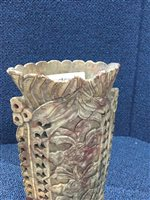 Lot 975-A PAIR OF CHINESE SOAPSTONE VASES