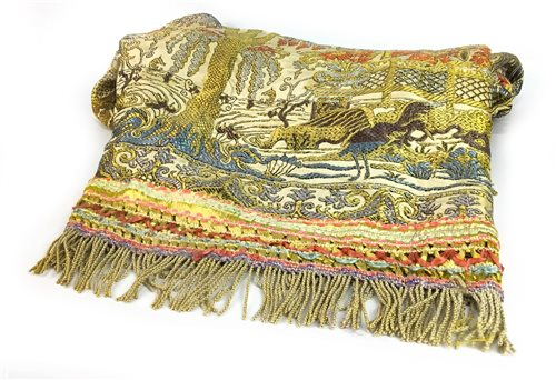 Lot 974-AN EARLY 20TH CENTURY CHINESE SILK BEDSPREAD