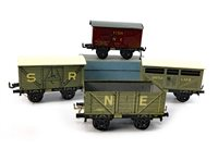 Lot 1634-A LOT OF SEVEN BING MODEL TRAIN CARRIAGES