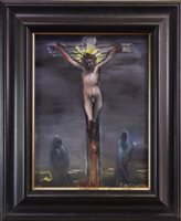 Lot 780 - SACKCLOTH AND ASHES, AN OIL BY FRANK MCFADDEN