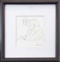 Lot 787 - HAND OF HEAVEN, A MIXED MEDIA BY PETER HOWSON