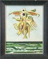 Lot 789 - OSSIAN'S DREAM, AN OIL BY ALLY THOMPSON