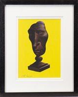 Lot 794 - TROPHY FACE V, A PASTEL BY FRANK MCFADDEN