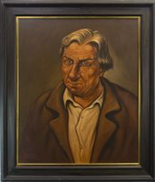 Lot 805 - THE RICH, AN OIL BY PETER HOWSON