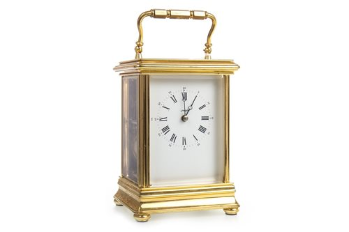 Lot 1443 - A L'EPEE CARRIAGE CLOCK