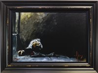Lot 812 - WAITING FOR THE ROMANCE TO COME BACK II, A GICLEE ON CANVAS BY FABIAN PEREZ