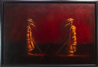 Lot 815 - THE CONSULTATION, AN OIL BY FRANK TO