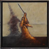 Lot 821 - SEASON OF THE WITCH DOCTOR, AN OIL BY FRANK TO