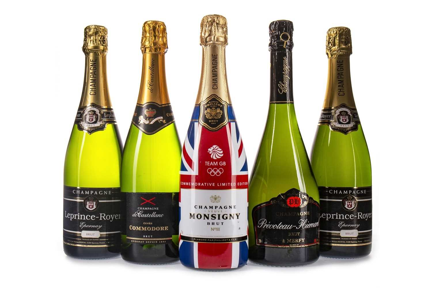 Lot 2013-FIVE BOTTLES OF CHAMPAGNE