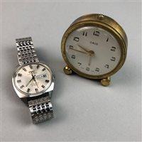 Lot 8-A GENTLEMAN'S CAMY WRIST WATCH AND AN ORIS CLOCK