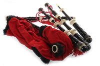 Lot 1455 - A SET OF BAGPIPES WITH DRONES