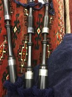 Lot 1456 - A FULL SET OF HIGHLAND BAGPIPES