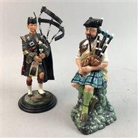 Lot 13-ROYAL DOULTON FIGURE OF THE PIPER AND ONE OTHER