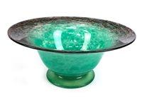 Lot 1282 - A MONART CIRCULAR GLASS BOWL