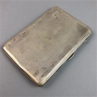 Lot 18-AN ENGINE TURNED CIGARETTE CASE