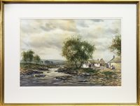 Lot 425-A PAIR OF RURAL SCENES BY JOHN HAMILTON GLASS