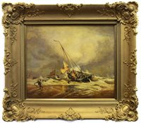 Lot 427-SHIPWRECK RESCUE SCENE, IN THE MANNER OF TURNER