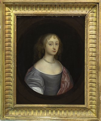 Lot 407-PORTRAIT OF A YOUNG LADY, AN OIL ON PANEL BY JOHN SCOUGALL