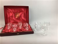 Lot 19-A SET OF FOUR BOXED EDINBURGH CRYSTAL WINE GLASSES AND OTHER CRYSTAL