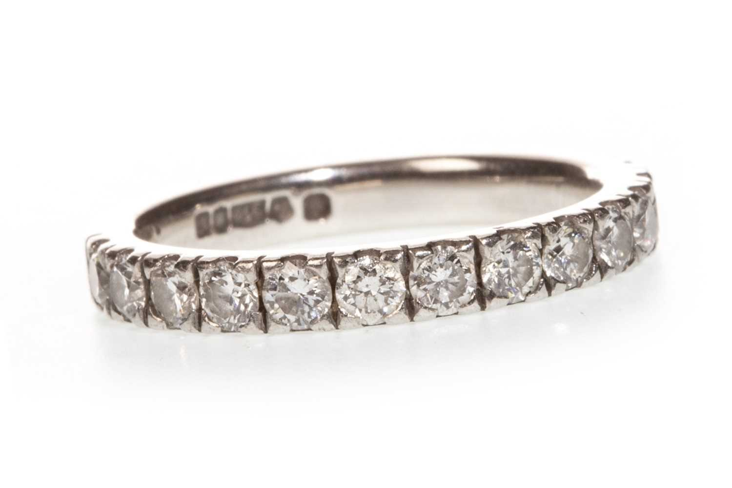 Lot 5-A DIAMOND SET PLATINUM BAND