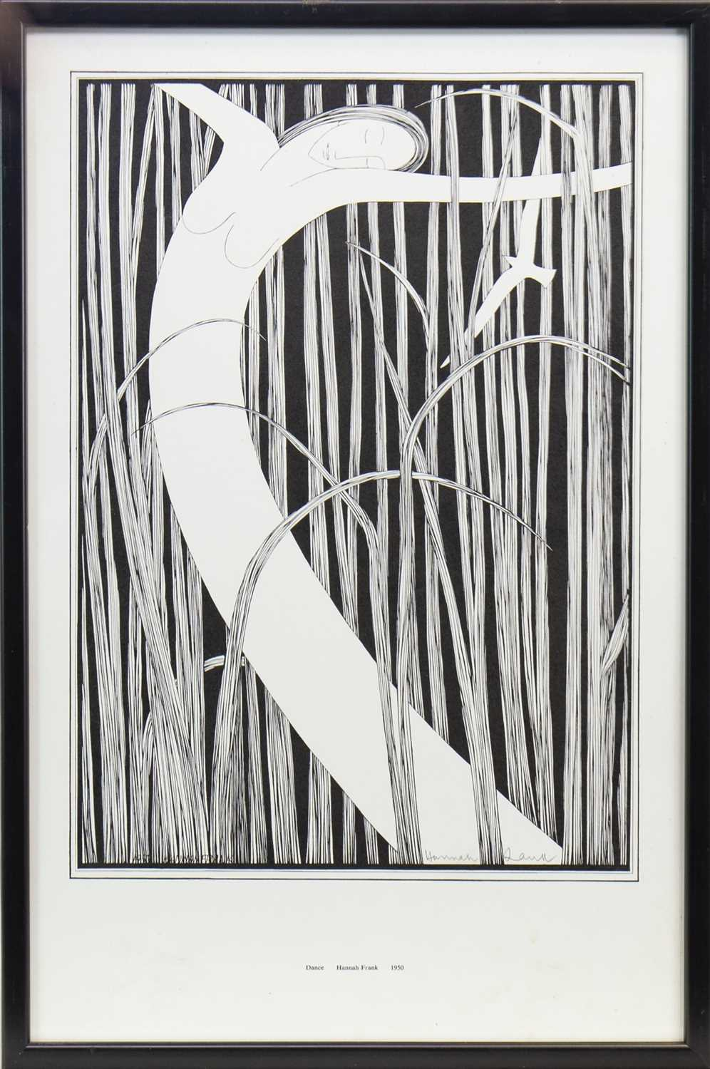 Lot 505-DANCE, A LITHOGRAPH BY HANNAH FRANK