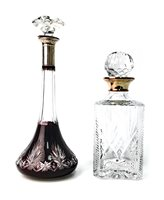 Lot 1283 - A LOT OF TWO CUT GLASS DECANTERS