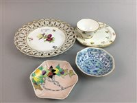 Lot 24-AN ELIZABETH MARY WATT, HAND PAINTED CERAMIC DISH AND OTHER CERAMICS