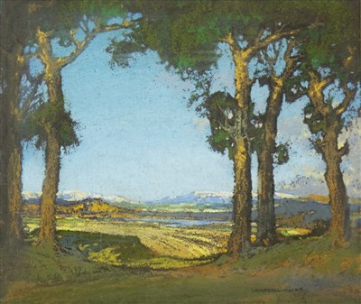 Lot 423-THROUGH THE TREES, A PASTEL BY CAMPBELL MACKIE