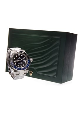 Lot 752 - RARE: A GENTLEMAN'S ROLEX GMT-MASTER II 'BATMAN' WRIST WATCH