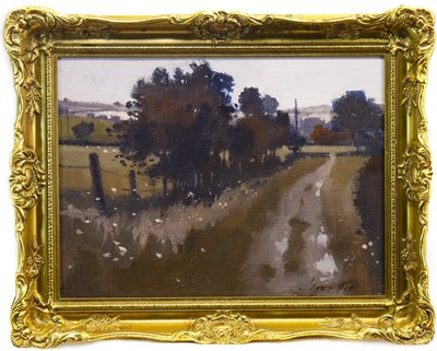 Lot 511-DOWN THE PATH, AN OIL BY JAMES ORR