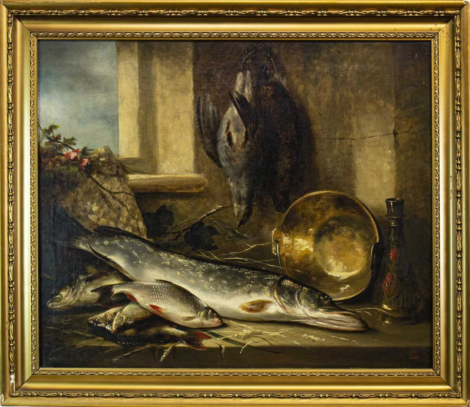 Lot 623-STILL LIFE WITH FISH AND GAME