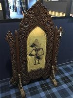 Lot 958-AN EARLY 20TH CENTURY BURMESE TEAK CARVED SCREEN