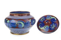 Image for AN EARLY 20TH CENTURY CHINESE CLOISONNE ENAMEL JAR WITH COVER