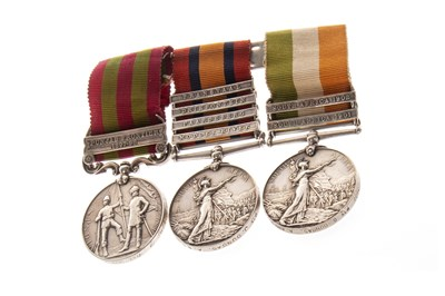 Lot 826-A TRIO OF INDIA AND SOUTH AFRICA MEDALS