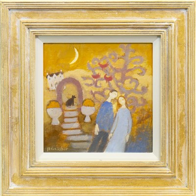 Lot 509-IN THE GARDEN, AN OIL BY HELEN TABOR