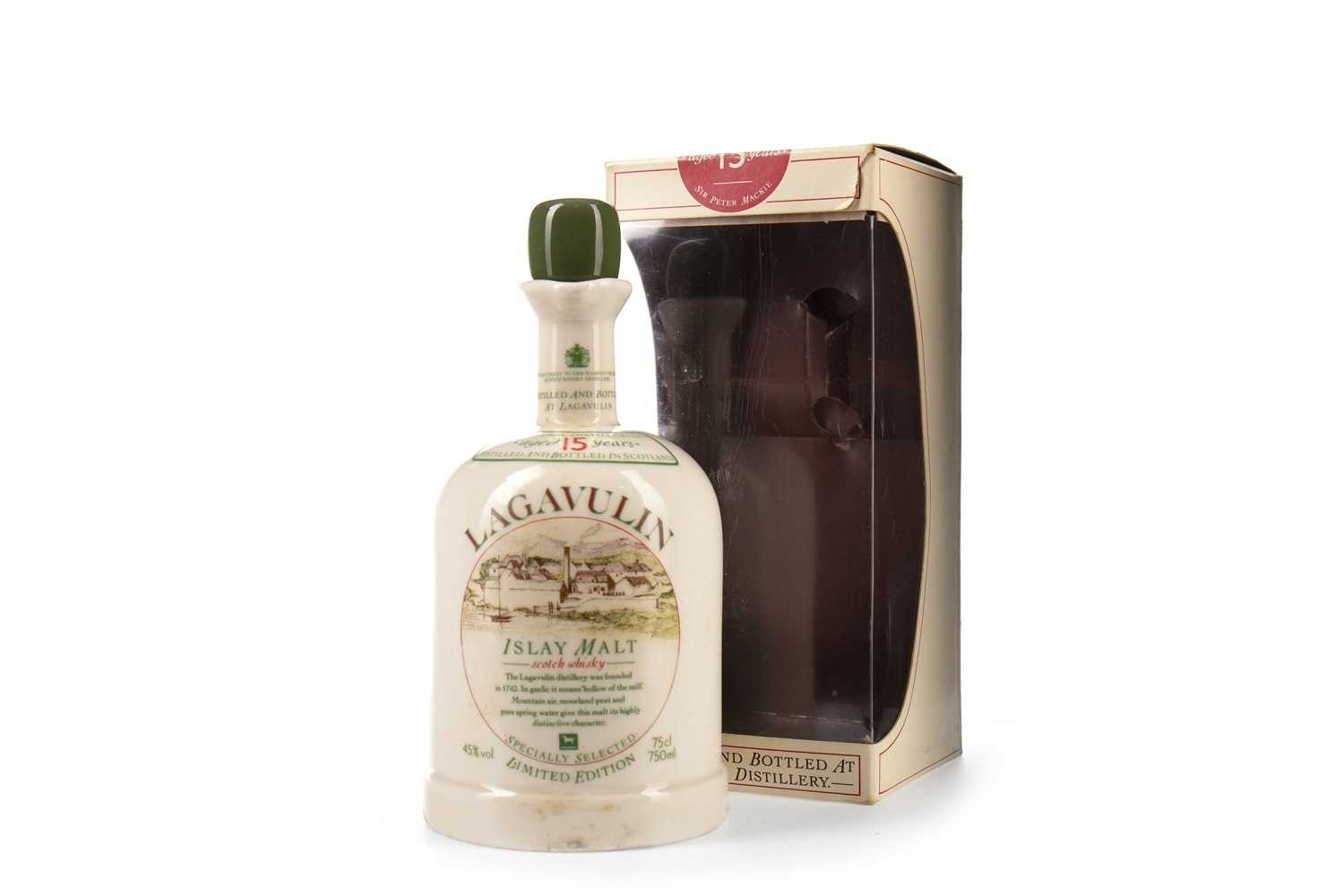 Lot 4-LAGAVULIN WHITE HORSE DECANTER AGED 15 YEARS