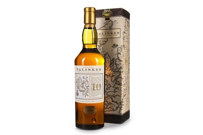 Lot 9-TALISKER 10 YEARS OLD - MAP LABEL