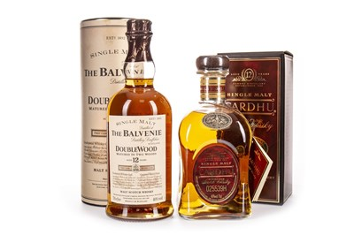 Lot 313-BALVENIE DOUBLEWOOD 12 YEARS OLD AND CARDHU 12 YEARS OLD