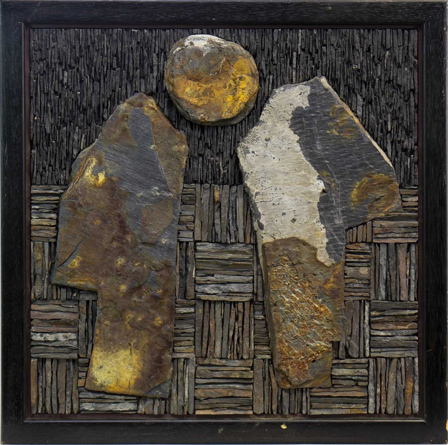 Lot 510-VENUS REGARDED, A SCOTTISH SLATE MOSAIC BY DUGALD MACINNES