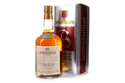 Lot 41-SPRINGBANK 21 YEARS OLD