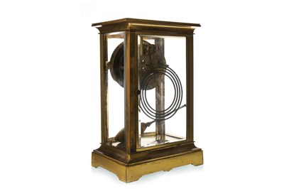 Lot 1410-AN EDWARDIAN ORMULU AND FOUR GLASS MANTEL CLOCK