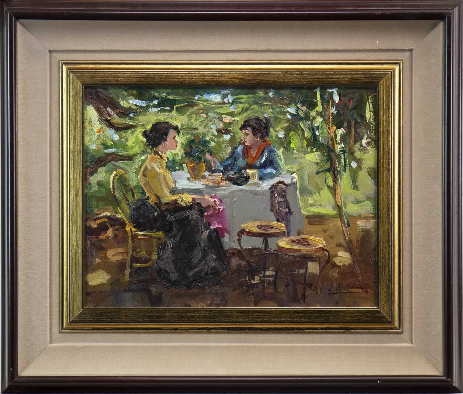 Lot 603-LADIES WHO LUNCH, AN OIL