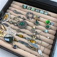 Lot 2-A COLLECTION OF SILVER JEWELLERY